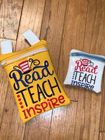 Read, Teach, Inspire Zip Bag