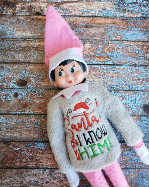 Elf Sweater - Santa! I know him!