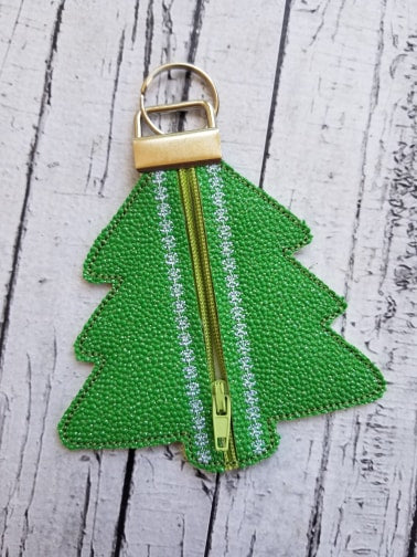 Christmas Tree Zip Fob