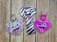 Emoji Heart Tongue Bookmark