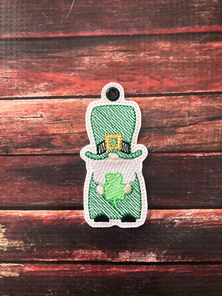 Boy Gnome with Shamrock Key Fob