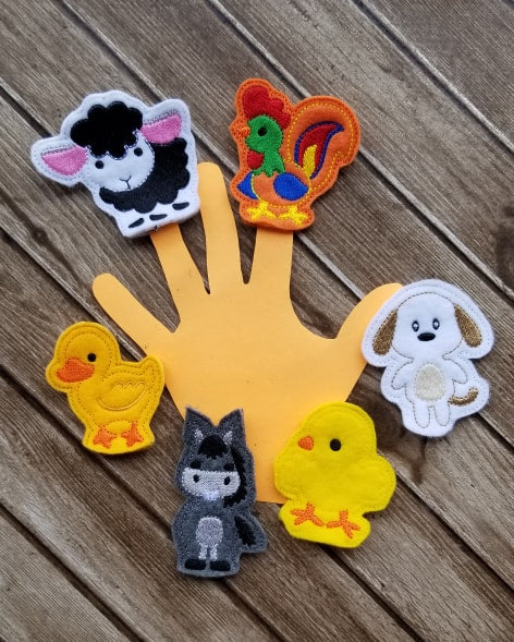 Barnyard Farm Animal Finger Puppet Set - 6 Designs