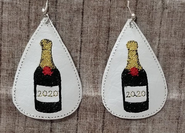 Champagne Bottle 2020 Earring