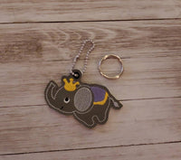 Circus Elephant Key Fob and Charm