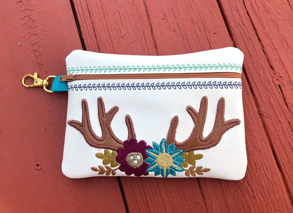 ITH Fall Antler Swag Zip Bag