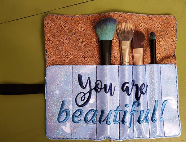 Roll Up Makeup Brush Holder 5x7 ONLY