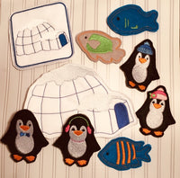 EXCLUSIVE Penguin Finger Puppet Set and Holder