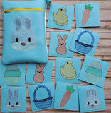 Easter Match Card Game and Zip Bag