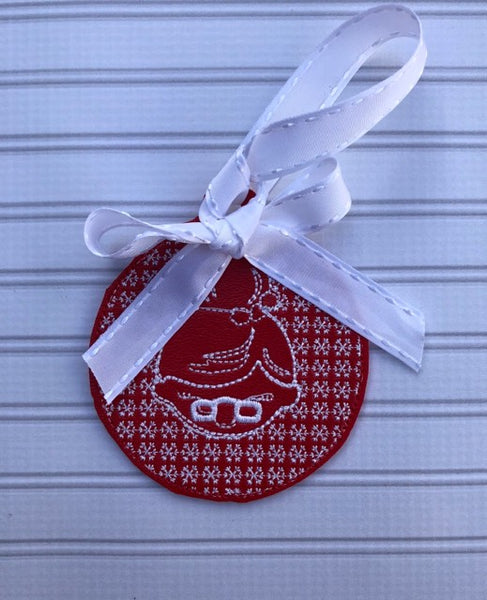 Christmas Mrs Claus Motif Ornament