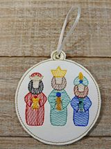 3 Wise Men Sketch Ornament