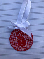 Christmas Snowman Motif Ornament