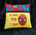 Get Caught in the Web of a book - Reading Pillow