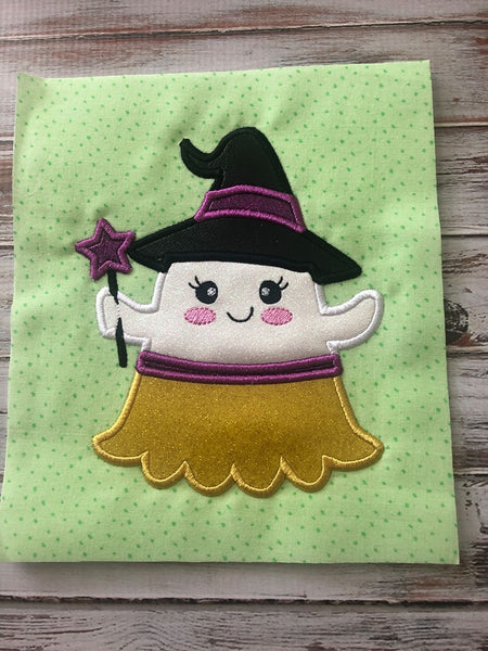 Halloween Ghost Witch Applique - 6 Sizes