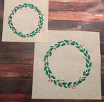 Christmas Wreath with Holly Frame - 5 Sizes