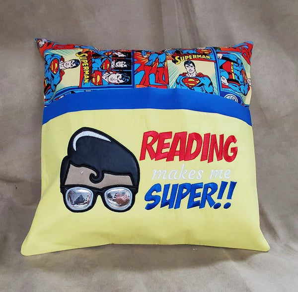 Reading Makes Me Super - Reading Pillow
