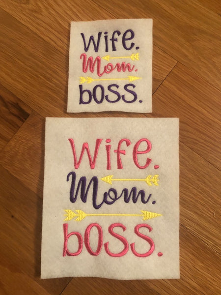 Wife, Mom, Boss Wording