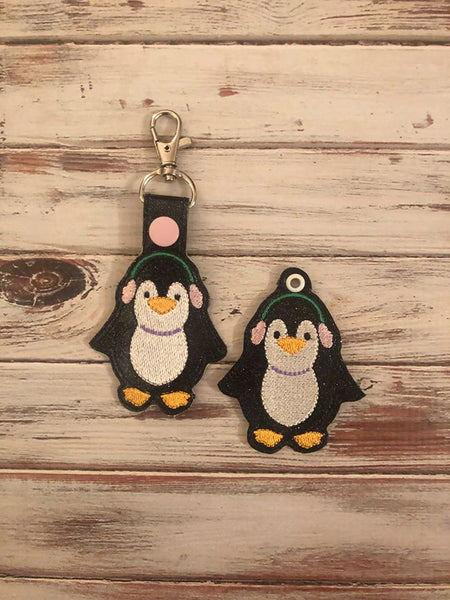 Penguin Woman Key Fob