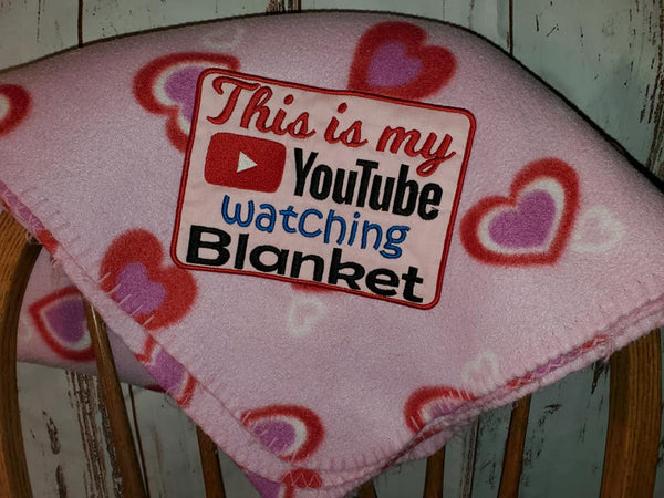 YouTube Watching Blanket 7 Sizes