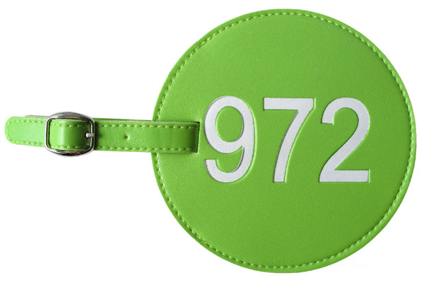 972 Area Code Luggage Tags (Set of 2)