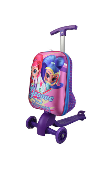 NICKELODEON SCOOTIES. Kids luggage with scooter attached. SHIMMER & SHINE