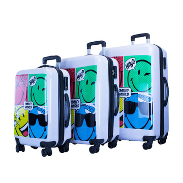 SMILEY COMIC 3 PCS LUGGAGE