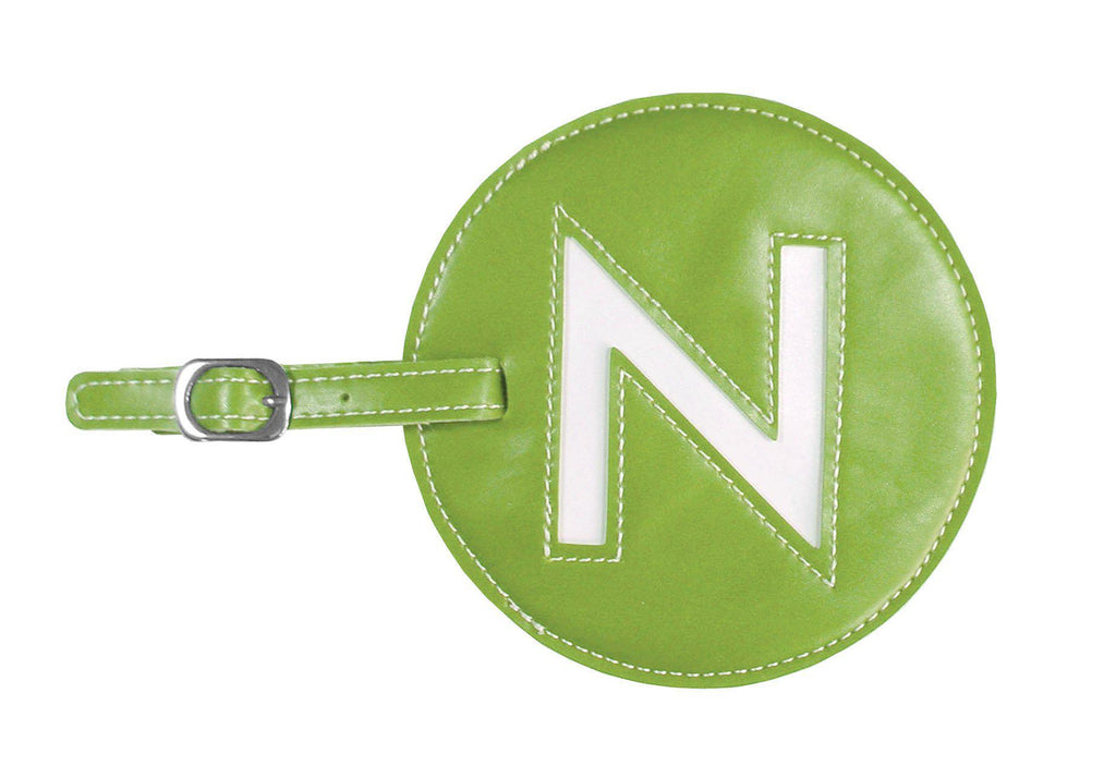 Initial 'N' Luggage Tag