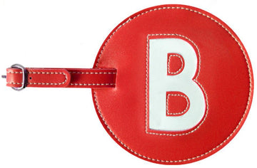 Initial 'B' Luggage Tag
