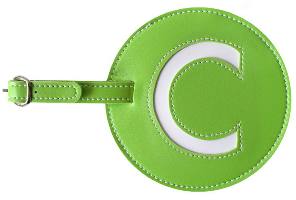 Initial 'C' Luggage Tag