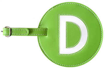 Initial 'D' Luggage Tag