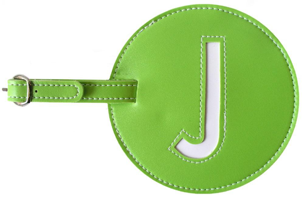 Initial 'J' Luggage Tag