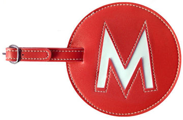 Initial 'M' Luggage Tag