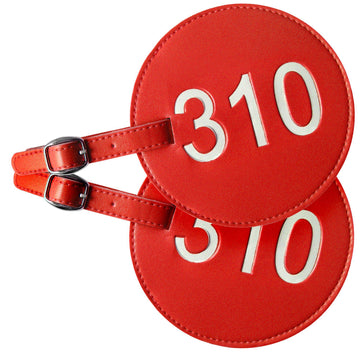 310 Area Code Luggage Tags (Set of 2)