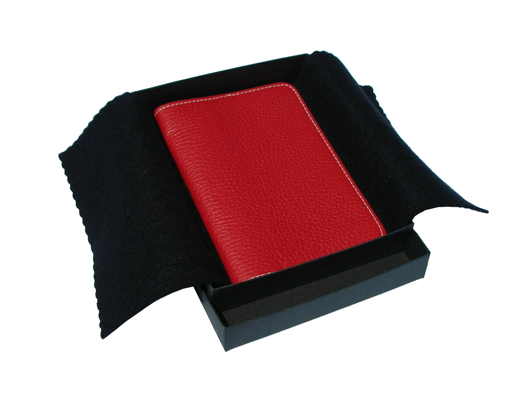 PASSPORT COVER ITALIAN LEATHER. MILANO COLLECTION . RED