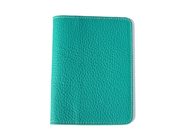 PASSPORT COVER ITALIAN LEATHER. MILANO COLLECTION . TURQUOISE