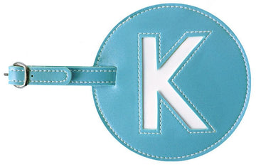 Initial 'K' Luggage Tag
