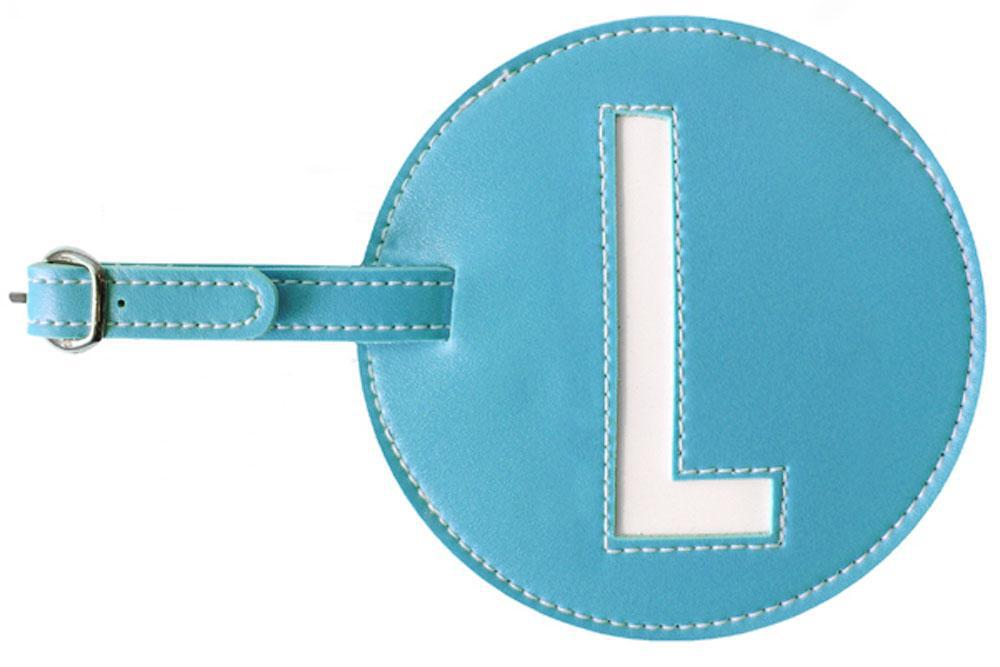 Initial 'L' Luggage Tag