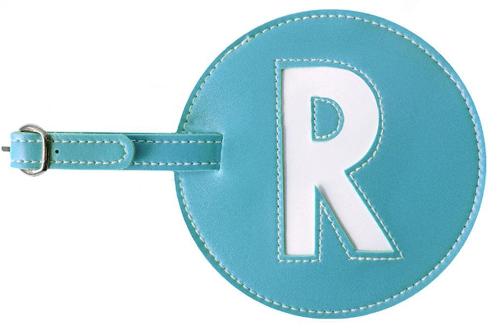 Initial 'R' Luggage Tag