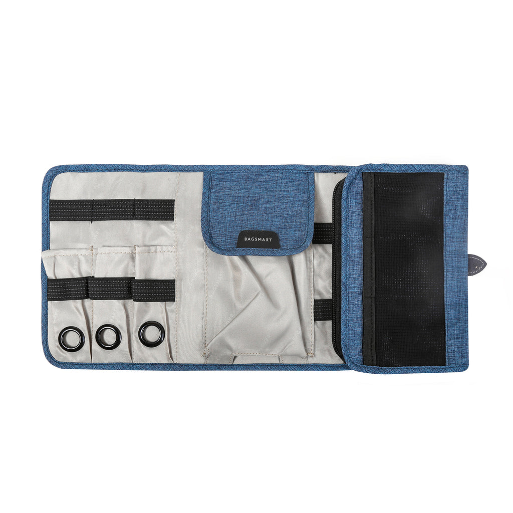 Smart Organizer Compact Travel Cable Organizer (Blue)