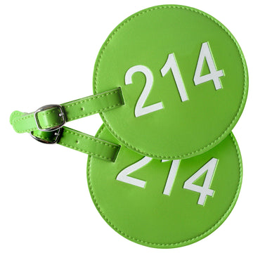 214 Area Code Luggage Tags (Set of 2)