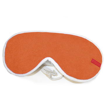 ULTRA SOFT FLEECE EYE MASK. ORANGE