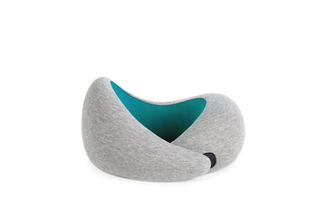 OSTRICH GO TRAVEL PILLOW. MEMORY FOAM PILLOW. BLUE REEF