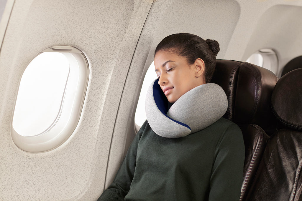 OSTRICH GO TRAVEL PILLOW. MEMORY FOAM PILLOW. MIDNIGHT GREY