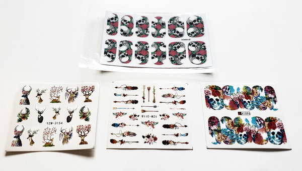 Basic Nail Art Package includes 4 nail sticker and nail art tape November 2019 PaLiSoL Creations