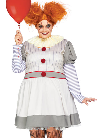 2 pc IT Clown Plus Size Halloween Costume