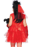 Plus Size Beetle Juice Bride Halloween Costume - Red Dress - 86730X