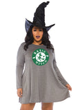 Trendy Starbucks inspired Basic Witch Top / Jersey Knit Dress 1X/2X 3X/4X Gray Green White86767X