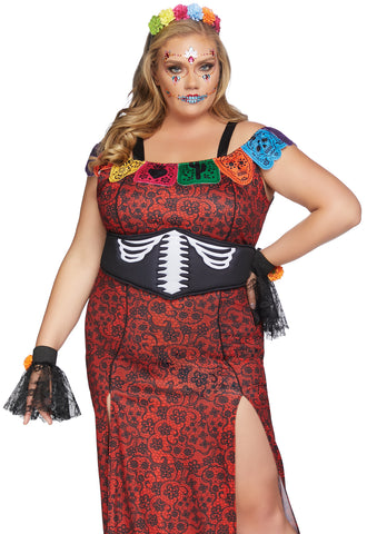 Nightmare before Christmas inspired Day of the Dead Halloween Costume 1X/2X 3X/4X86871X
