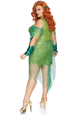 Poision Ivy inspired Plus Size Halloween Costume - Superhero Villain 1X/2X 3X/4X 86872X