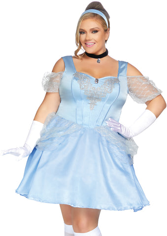 Plus Size Disney Princess Cinderella iNspired Halloween Costume - Blue - 1X/2X 3X/4X 86879X