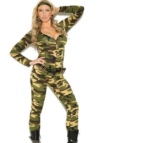 Sexy Plus Size Army Combat Warrior Halloween Costume Elegant Moments 9102